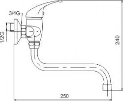 NOVASERVIS - Dřezová umyvadlová baterie 100 mm Metalia 55 bílá-chrom (55074/T,1), fotografie 2/2