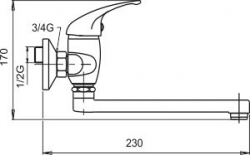 NOVASERVIS - Umyvadlová dřezová baterie 100 mm Metalia 55 chrom (55077,0), fotografie 2/2