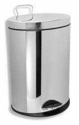 NOVASERVIS - Odpadkový koš kulatý 5 l chrom (6160,0), fotografie 2/1