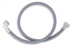 NOVASERVIS - Pračková napouštěcí hadice s kolenem šedá 250cm (PNK/250), fotografie 2/1