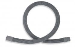 NOVASERVIS - Pračková vypouštěcí hadice rovná šedá 150cm (PV/150), fotografie 2/1