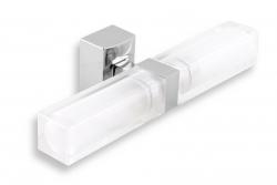 Dvojité koupelnové světlo hranaté chrom (0205,0) - NOVASERVIS