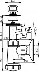 NOVASERVIS - Sifon umyvadlový s pračkovým vývodem plast (422,PP), fotografie 4/2