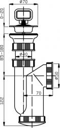 """NOVASERVIS - Sifon dřezový 6/4"""" 50/40 manžeta plast (440,P), fotografie 4/2"""