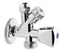 """NOVASERVIS - Kombinovaný roháček s ventilem pro pračku 1/2""""x3/8""""x3/4"""" (CF5104), fotografie 2/2"""