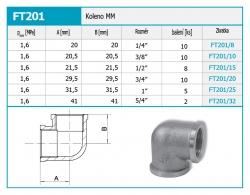 """NOVASERVIS - Koleno MM 5/4"""" (FT201/32), fotografie 4/2"""