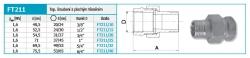 """NOVASERVIS - Topenářské šroubení s plochým těsněním, niklované 3/4"""" (FT211/20), fotografie 4/2"""