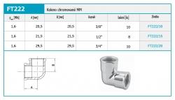 "NOVASERVIS - Koleno chromované MM 3/4"" (FT222/20), fotografie 4/2"