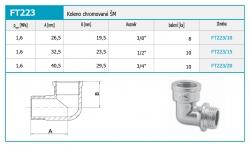"""NOVASERVIS - Koleno chromované ŠM 1/2"""" (FT223/15), fotografie 4/2"""
