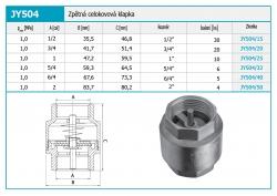 """NOVASERVIS - Zpětná celokovová klapka kovová vložka 6/4"""" (JY504/40), fotografie 4/2"""