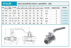 """NOVASERVIS - Plnoprůtočný kohout s vypouštěním 3/4"""" (JY1129/20), fotografie 4/2"""
