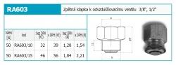 """NOVASERVIS - Zpětná klapka k odvzdušňovacímu ventilu 3/8"""" (RA603/10), fotografie 4/2"""