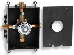 NOVASERVIS - Montážní podomítkový box chrom (BOX050)