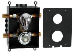 NOVASERVIS - Montážní podomítkový box s přepínačem chrom (BOX050R)