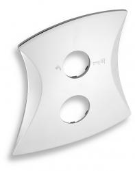 NOVASERVIS - Kryt podomítkového boxu s přepínačem LINIE chrom (KRYT0050RD,0)