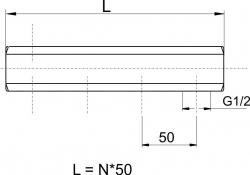 """NOVASERVIS - Tělo rozdělovače jednostranné G1"""" 3 okruhy (457/3Y), fotografie 4/2"""