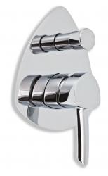NOVASERVIS - Vanová sprchová baterie s přepínačem MODENA chrom (79050R,0)