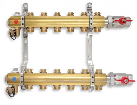 NOVASERVIS - Rozdělovač s regulačními ventily 6 okruhů (RO06)