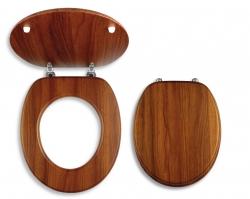 NOVASERVIS - Sedátko dýhované dřevo (WC/DUB2), fotografie 2/1