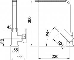 NOVASERVIS - Dřezová baterie EDGE chrom (36713,0), fotografie 4/2