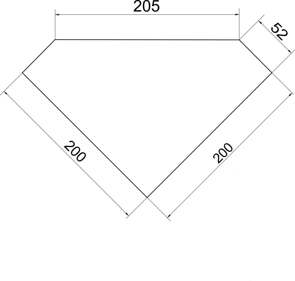 NOVASERVIS - Rohová polička s dvěma otočnými háčky (65535,1 II.)