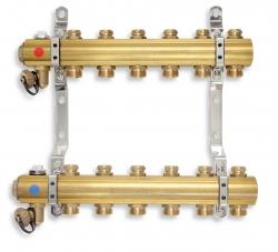 NOVASERVIS - Rozdělovač s regulačními a mechanickými ventily 7 okruhů (RO07S), fotografie 2/2