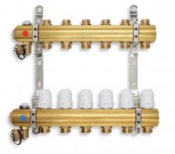 NOVASERVIS - Rozdělovač s regulačními, termost. a mech. ventily 9 okruhů (RZ09S), fotografie 2/1