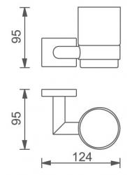 NOVASERVIS - Držák kartáčků a pasty sklo Titania Elis chrom (66406,0), fotografie 4/2