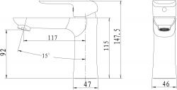 NOVASERVIS - Umyvadlová baterie bez výpusti Nobless Tina bílá/chrom (38001/1,1), fotografie 4/2