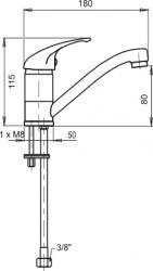 NOVASERVIS - Umyvadlová dřezová baterie beztlaková Metalia 55 chrom (55097,0), fotografie 2/2