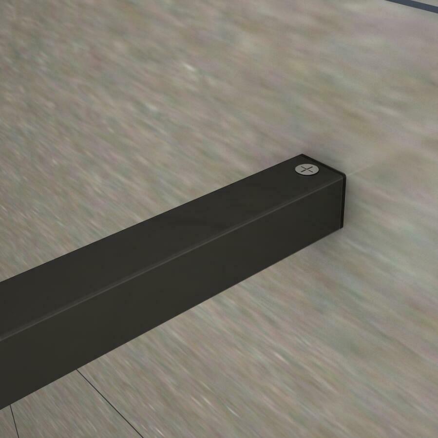 H K - LUSTY BLACK F1 80 Sprchová zástěna WALK IN 78-80x 200cm, 8 mm sklo (SE-LUSTYBLACKF180)