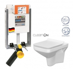 SET JOMOTech Modul pro zazdění LIGHT + sedátko + WC  CERSANIT CLEANON COMO (164-14600479-00 CO1) - AKCE/SET/JOMO