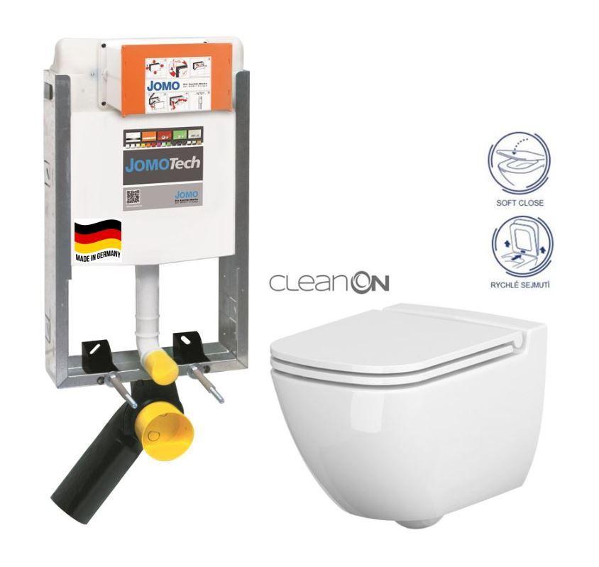 GEBERIT Duofix pro závěsné WC 111.300.00.5 bez ovládaví desky + WC CERSANIT PRESIDENT + SEDÁTKO 111.