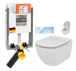 JOMOTech modul pro zazdění LIGHT bez desky + WC Ideal Standard Tesi se sedátkem SoftClose, AquaBlade  (164-14600479-00 TE1)