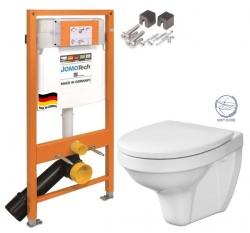 JOMOTech modul pro závěsné WC bez sedátka + WC CERSANIT DELFI + SOFT SEDÁTKO (174-91100700-00 DE2)