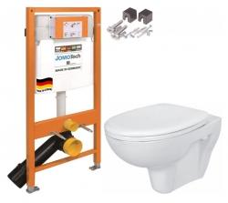 SET JOMO Duofix modul pro závěsné WC + montážní sada + sedátko + WC CERSANIT PRESIDENT (174-91100700-00 PR1) - AKCE/SET/JOMO