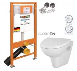 SET JOMO Duofix modul pro závěsné WC + montážní sada + sedátko + WC CERSANIT CLEANON PARVA (174-91100700-00 PA1) - AKCE/SET/JOMO