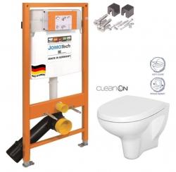 SET JOMO Duofix modul pro závěsné WC + montážní sada + sedátko + WC CERSANIT CLEANON ARTECO (174-91100700-00 AT1) - AKCE/SET/JOMO