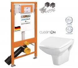 SET JOMO Duofix modul pro závěsné WC + montážní sada + sedátko + WC CERSANIT CLEANON CARINA (174-91100700-00 CA2) - AKCE/SET/JOMO