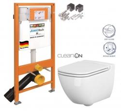 SET JOMO Duofix modul pro závěsné WC + montážní sada + sedátko + WC CERSANIT CLEANON CASPIA (174-91100700-00 CP1) - AKCE/SET/JOMO
