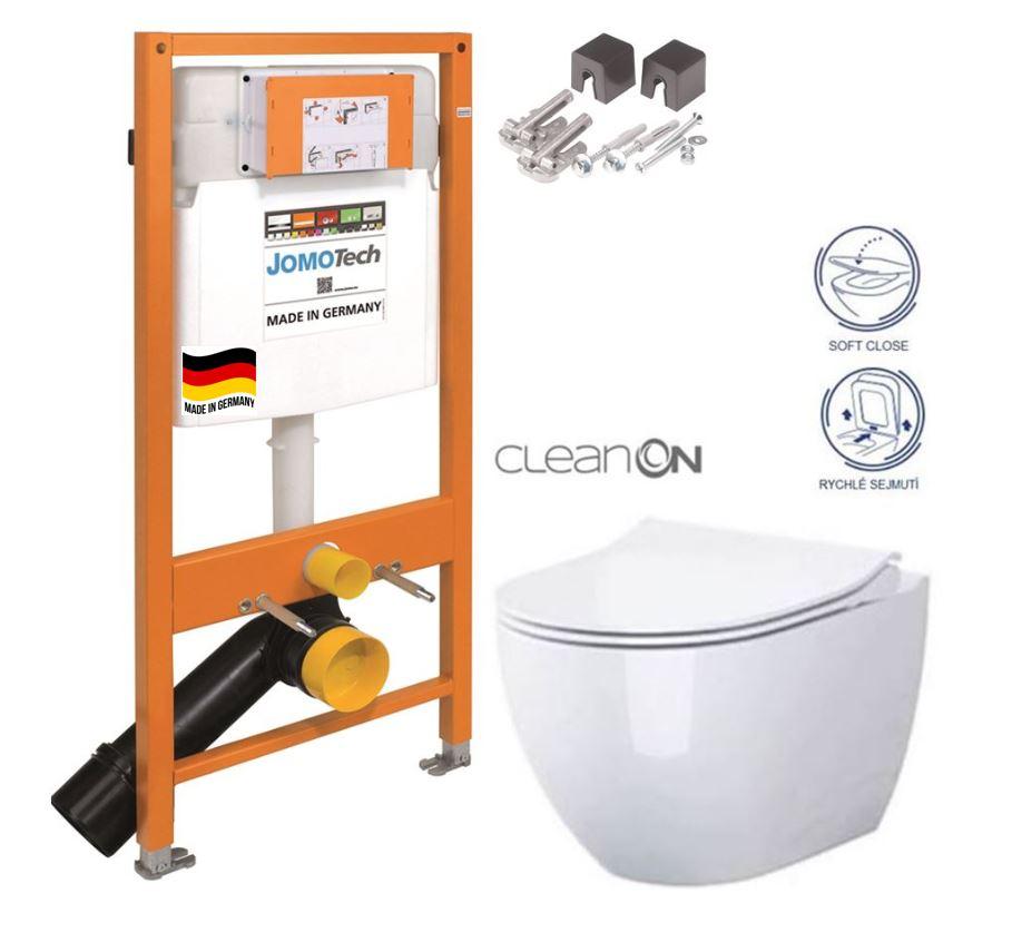 AKCE/SET/JOMO SET JOMO Duofix modul pro závěsné WC + montážní sada + sedátko + WC CERSANIT CLEANON URBAN HARMONY 174-91100700-00 HA1