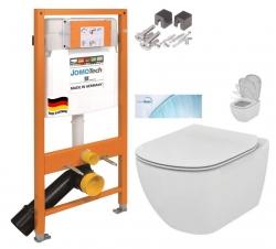 SET JOMO Duofix modul pro závěsné WC + montážní sada + WC TESI se sedátkem SoftClose, AquaBlade  (174-91100700-00 TE1) - AKCE/SET/JOMO