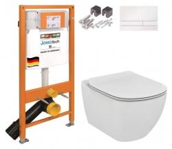 SET JOMO Duofix modul pro závěsné WC + tlačítko + montážní sada + sedátko + WC TESI (174-91100900-00 TE3) - AKCE/SET/JOMO