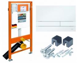Modul JOMOTech pro závěsné WC + ovládací deska pro duální spláchnutí + montážní sada (174-91100900-00)