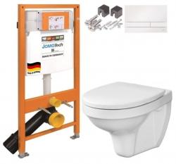 SET JOMO Duofix modul pro závěsné WC + tlačítko + montážní sada + sedátko + WC DELFI (174-91100900-00 DE1)
