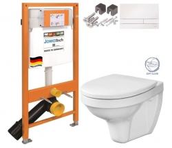 JOMO DUO modul pro závěsné WC s bílou deskou + WC CERSANIT DELFI + SOFT SEDÁTKO (174-91100900-00 DE2)