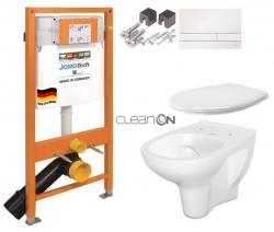 SET JOMO Duofix modul pro závěsné WC + tlačítko + montážní sada + sedátko + WC CERSANIT CLEANON ARTECO (174-91100900-00 AT2)