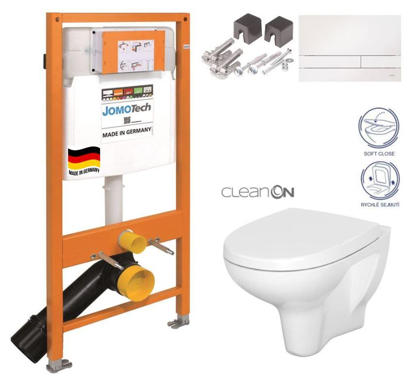 JOMO DUO modul pro závěsné WC s bílou deskou + WC CERSANIT ARTECO CLEANON + SEDÁTKO 174-91100900-00 AT1