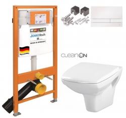 SET JOMO Duofix modul pro závěsné WC + tlačítko + montážní sada + sedátko + WC CERSANIT CLEANON CARINA (174-91100900-00 CA1)