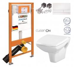 SET JOMO Duofix modul pro závěsné WC + tlačítko + montážní sada + sedátko + WC CERSANIT CLEANON CARINA (174-91100900-00 CA2)